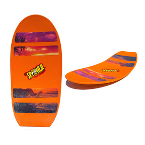 Freestyle Spooner Board - Orange with Scenery Grip Tape