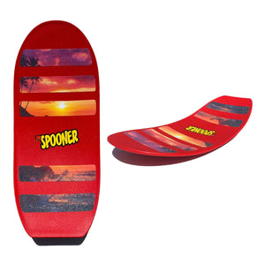 Pro Spooner Board - Red with Scene Grip Tape