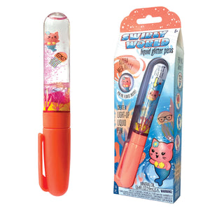 Swirly World Liquid Glitter Pens Aloha Mer-Kitty