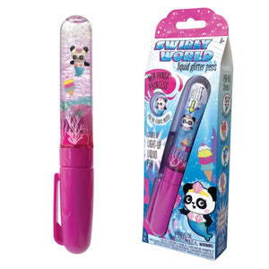Swirly World Liquid Glitter Pens Mer-Panda Princess