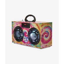 Load image into Gallery viewer, Boombox Couture FM Radio + Bluetooth Mini Boombox - Tie Dye