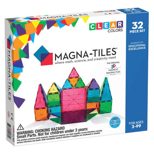 Magna-Tiles 32 Piece Clear Colors from Valtech