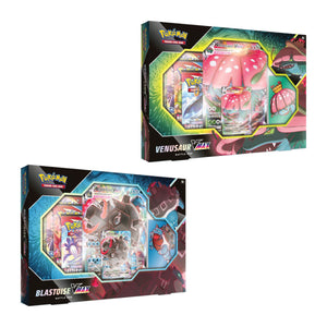 Pokemon TCG Venusaur VMAX or Blastoise VMAX Battle Box