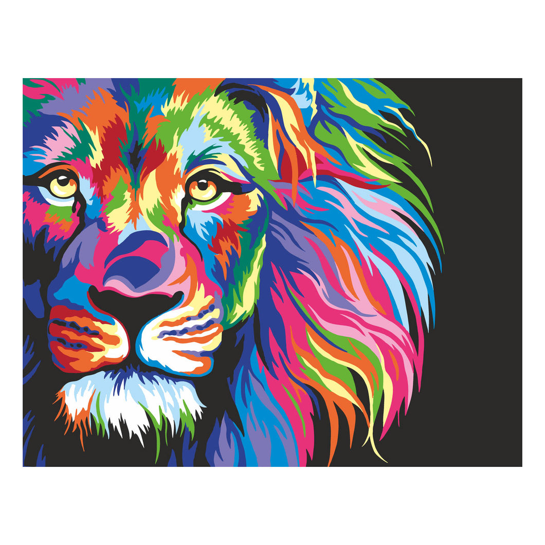 Artwille Neon Lion Paint By Number Kit