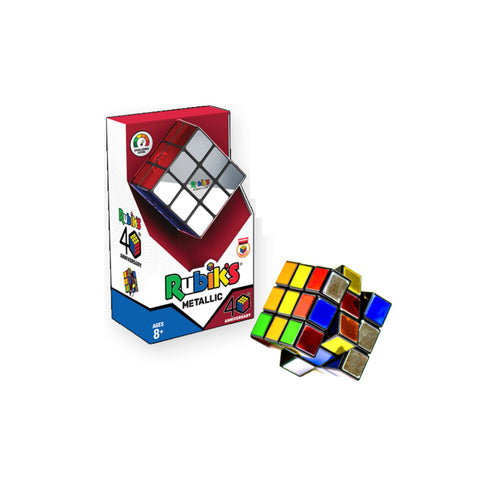 Rubik's 40th Anniversary Metallic 3x3 Cube from Winning Moves