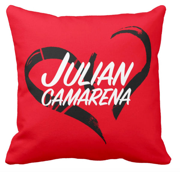 Julian Camarena Heart Pillow