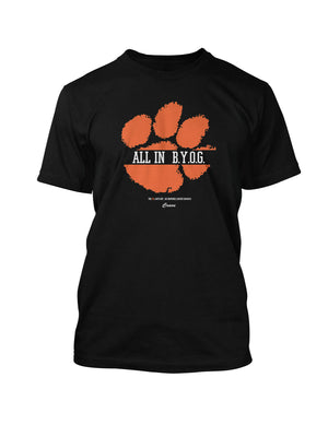 ALL IN - B.Y.O.G TEE BLACK - Crave Clothing Line  - 1