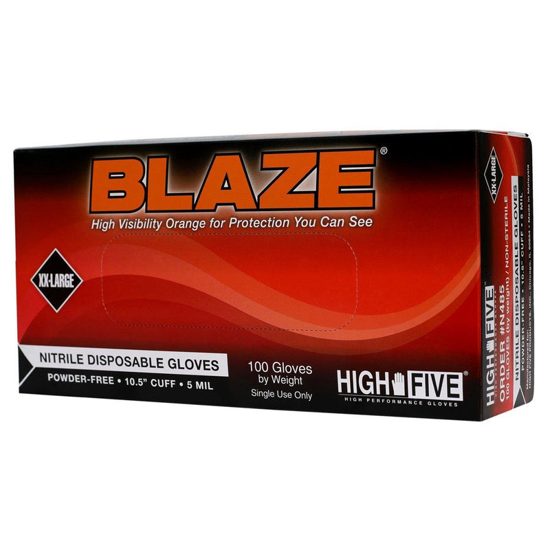 BLAZE N483 Nitrile Gloves, Powder-Free, XXLarge, 100/Box - Supply Band