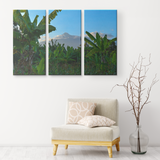3 Set Canvas African Trees Wall Art Canvas African Wall Art African Landscape Living Room Wall Art Home and Office Decor