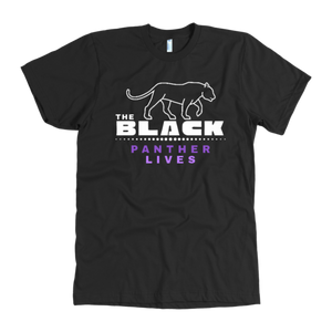 Black Panther T-Shirt Wakanda Forever Black Panther Lives American Apparel Shirt