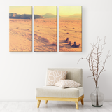 3 Set Canvas African Sunrise Wall Art African Wall Art Canvas African Wildlife Living Room Wall Art Home and Office Decor