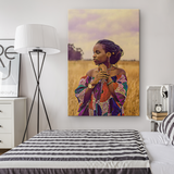 African Woman Wall Art Black Girl Magic Black Woman Wall Canvas Art