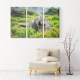 3 Set Canvas Zebra Print Wall Art African Trees Canvas Art Zebra Wall Art Living Room Wall Art Home and Office Decor
