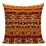 African Ethnic Style Pattern Cushion Cover Colorful Geometric Decorative Pillows Linen Throw Pillow for Sofa Home Decoration
