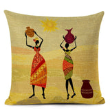 Africa Safari Decorative Cushion Cover African Woman Custom Pillow Case National Costume Pattern Sofa Home Decor Pillow Cover