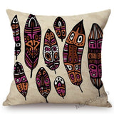 Africa Map Art Black Woman Exotic Decoration Art Home Throw Pillow Case Cotton Linen Square Cushion Cover Wholesale Dropshipping