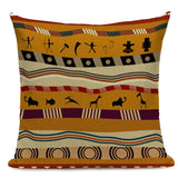 Ethnic Style Cushion Cover African National Stripe Throw Pillow Case Car Support Geometric Yellow Home Office Bar Decor