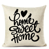 Nordic Style Love Letter Decorative Cushion Cover Sweet Home Linen Pillow Cover Living Room Sofa Decor Pillow Case