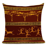 African Tribal Geometric Pattern Decorative Pillow Cover Ethnic Style Cushion Cover Linen Pillowcase for Home Sofa Decor
