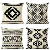 Ethnic Geometry Cushion Cover Combination Throw Pillow Linen Car Sofa Bed Home Decor Textile Printed Pillowcase