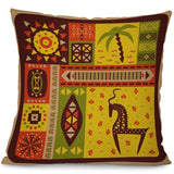 "Miracille Square 18"" Ethnic Africa Totem Printed Decorative Cushion Cover Chair Seat Car Outdoor Garden Pillowcase"