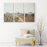 3 Set Canvas African Giraffe Wall Art African Safari Wildlife Wall Art Canvas Living Room Wall Art Home and Office Decor