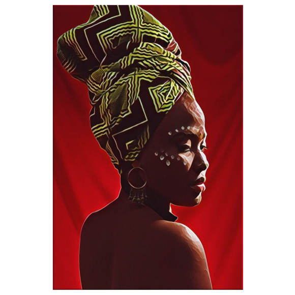 African Woman Wall Art Black Girl Magic Black Woman Ethnic Wall Canvas Art