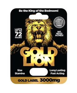 Gold Lion 3000 Pill For Him - Case of 24