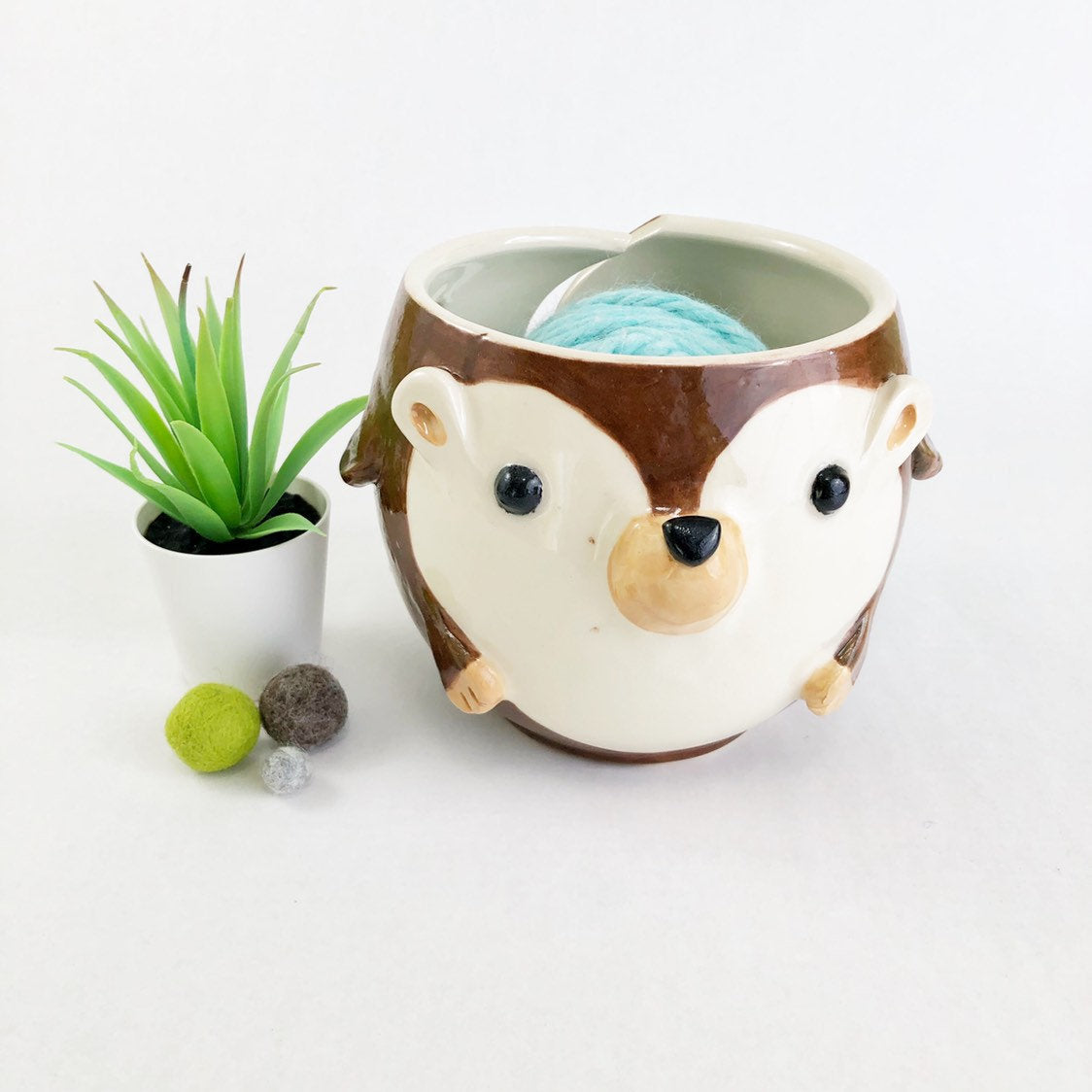 Hedgehog Yarn Bowl