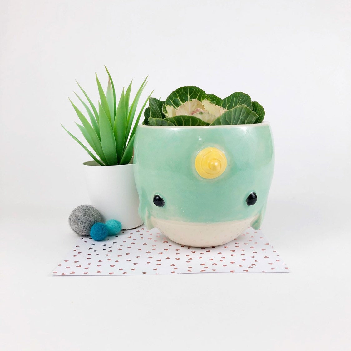 Narwhal Planter/Bowl, Small
