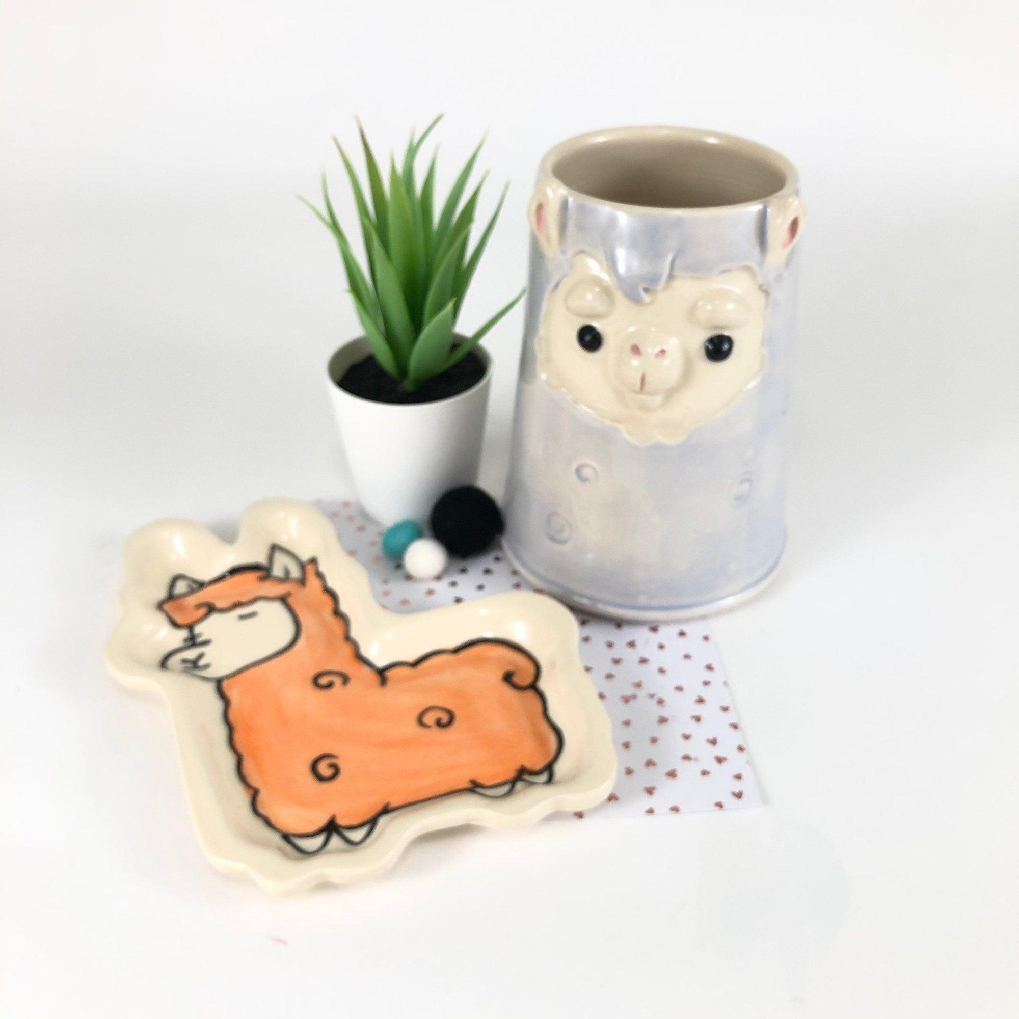 Llama Mug and Spoon Rest Set