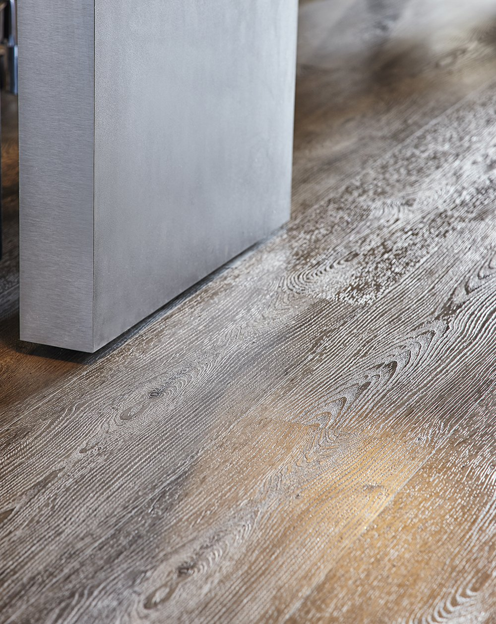 Blanched Carbon Glue Down PLF4264-GD Vinyl Plank Flooring
