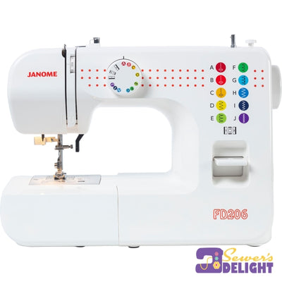Janome Fd216 Kids Fd206 - 6 Stitches No Width Or Length Control Sewing Machines
