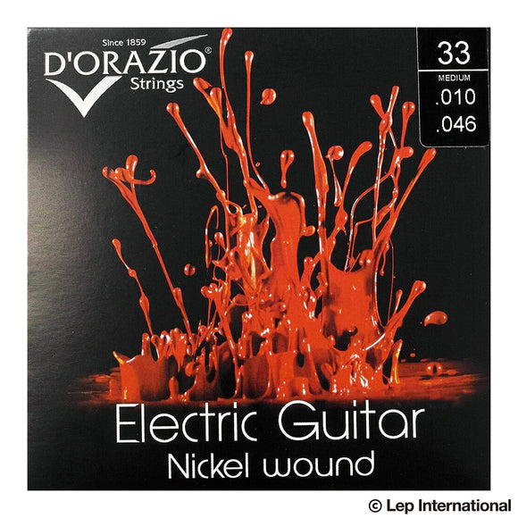 D'Orazio Strings Electric Guitar Nickel Round Wound 33(Medium 010-046) 【ゆうパケット対応可能】