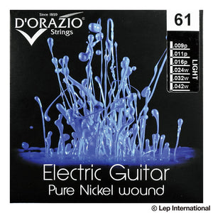 D'Orazio Strings Electric Guitar Pure Nickel 99% Round Wound 61 (Light 009-042) 【ゆうパケット対応可能】