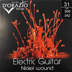 D'Orazio Strings Electric Guitar Nickel Round Wound 31 (Light 009-042) 【ゆうパケット対応可能】