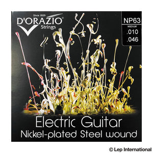 D'Orazio Strings Electric Guitar Nickel Plated Steel Round Wound NP62(Light Medium 009-046) 【ゆうパケット対応可能】