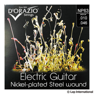 D'Orazio Strings Electric Guitar Nickel Plated Steel Round Wound NP63(Medium 010-046) 【ゆうパケット対応可能】
