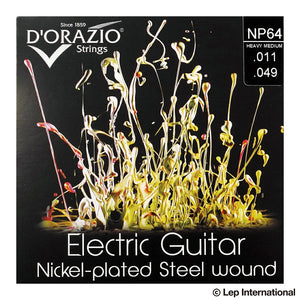 D'Orazio Strings Electric Guitar Nickel Plated Steel Round Wound NP64(Heavy Medium 011-049) 【ゆうパケット対応可能】
