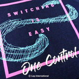 One Control Switching is Easy パーカー デニムカラー