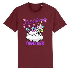 "T-shirt licorne homme - ""let's dream together"" - Clairement licorne"