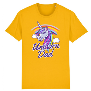 "T-shirt licorne homme - ""unicorn dad"" - Clairement licorne"