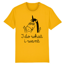 "Charger l'image dans la galerie, T-shirt licorne homme - ""i do what i want"" - Clairement licorne"