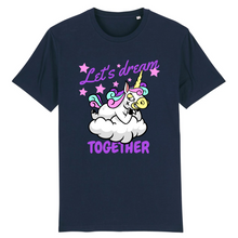 "Charger l'image dans la galerie, T-shirt licorne homme - ""let's dream together"" - Clairement licorne"