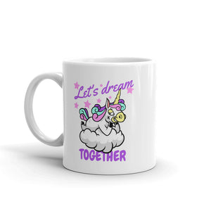 "Mug licorne - ""let's dream together"" - Clairement licorne"