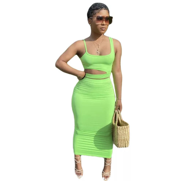 Summertime Fine Skirt Set | Green