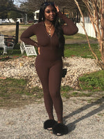The Category Is Body Ruched Jumpsuit | Coffee