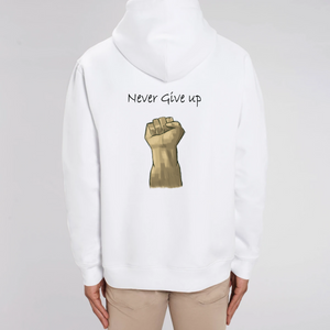 Never Give Up - Sweat à capuche unisexe