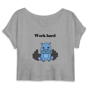 Work Hard - Crop Top