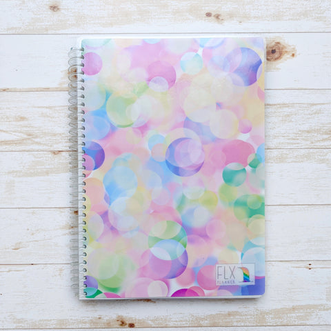 Colorful Bubbles Undated 6-Month Daily FLX Planner (*LGBTQ+ Benefit Cover)